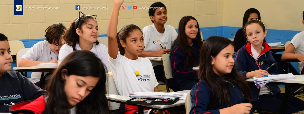 <p>O Colégio Guarapiranga inicia sua campanha de matrículas para o ano letivo de 2018. Preparamos o aluno desde a Educação Infantil, passando pelos dois ciclos do Ensino Fundamental até o Ensino Médio, de maneira a desenvolver as suas capacidades com aprendizado gradativo e contínuo, a fim de que o conhecimento [&hellip;]</p>